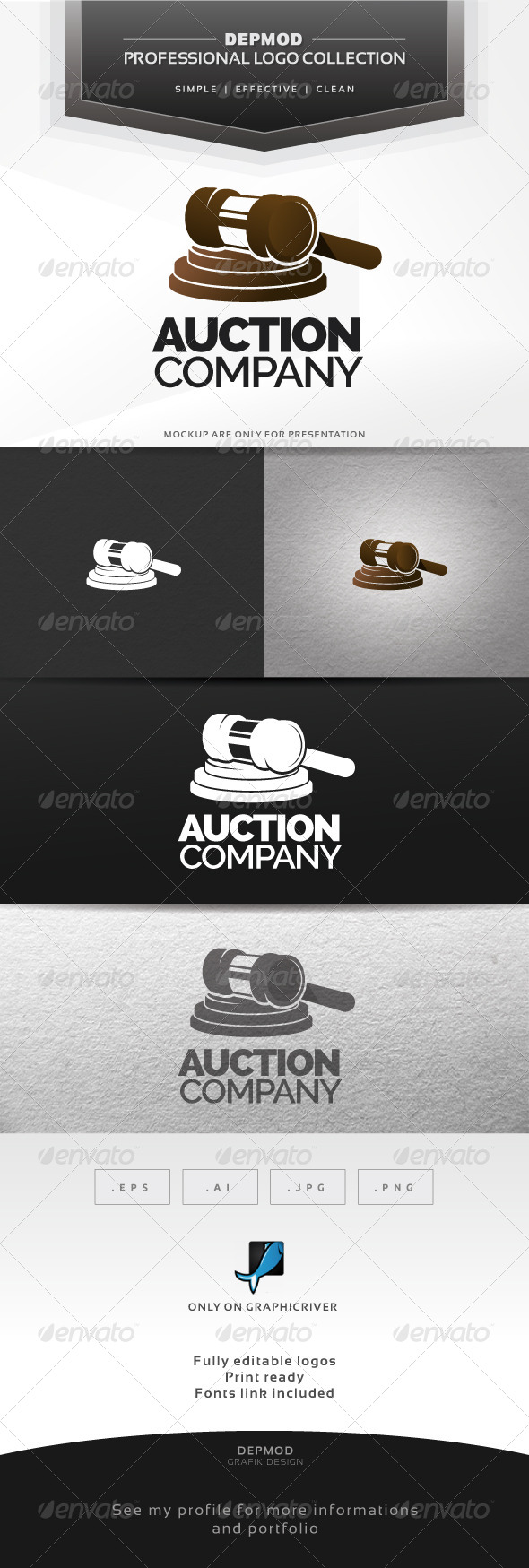 Auction Company Logo - Objects Logo Templates