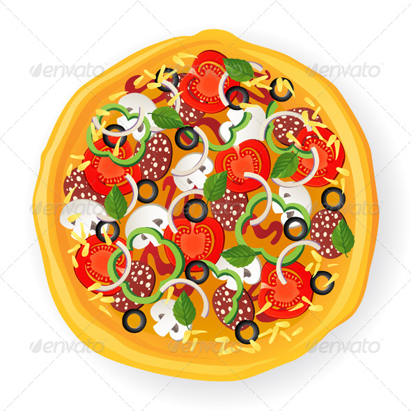 Pizza Icon - Food Objects