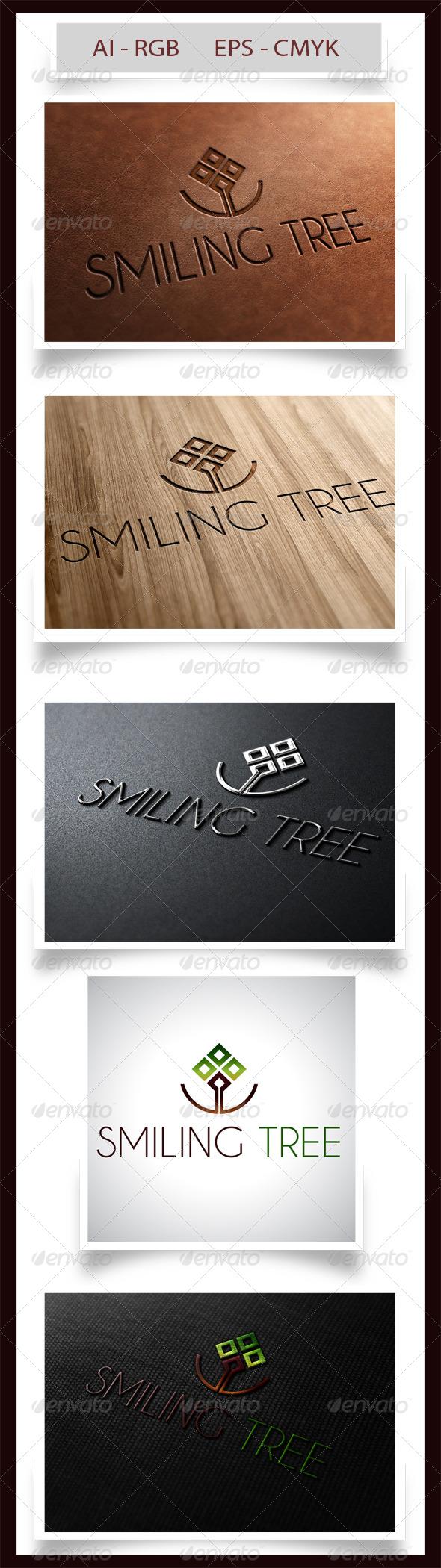 Smiling Tree - Nature Logo Templates