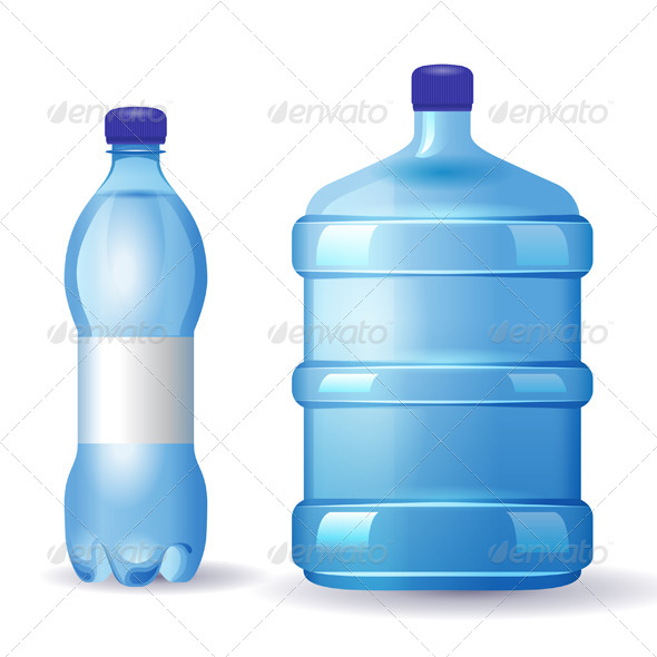 Water Bottles - Objects Vectors