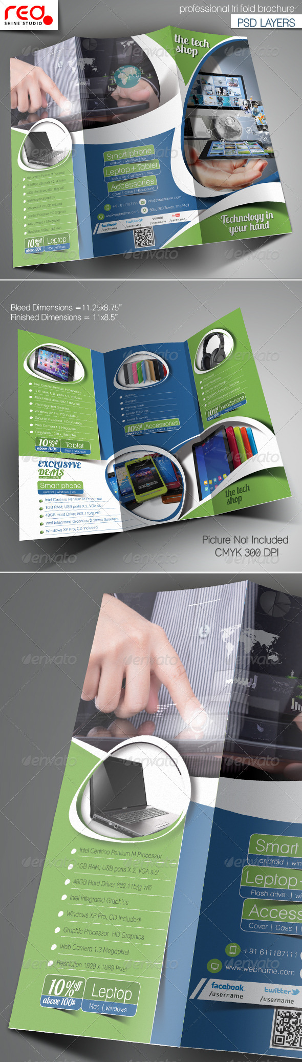 Multipurpose Promotion Trifold Brochure Template - Corporate Brochures