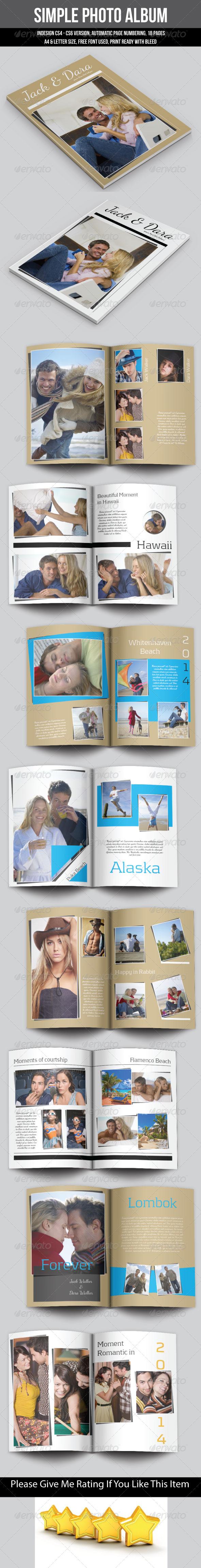 Simple Photo Album - Photo Albums Print Templates