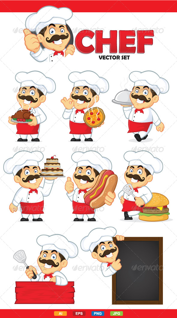 Chef Vector Set - People Characters