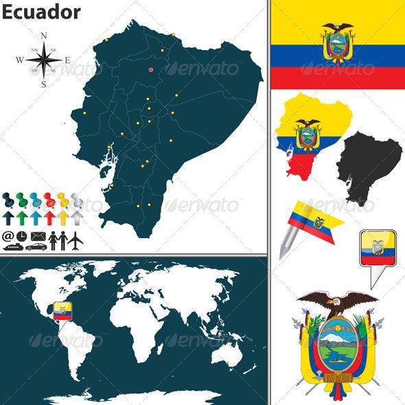 Map of Ecuador - Travel Conceptual