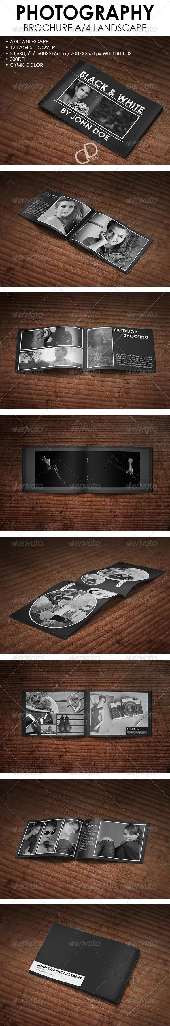 Photography Bochure A4 Landscape - Brochures Print Templates