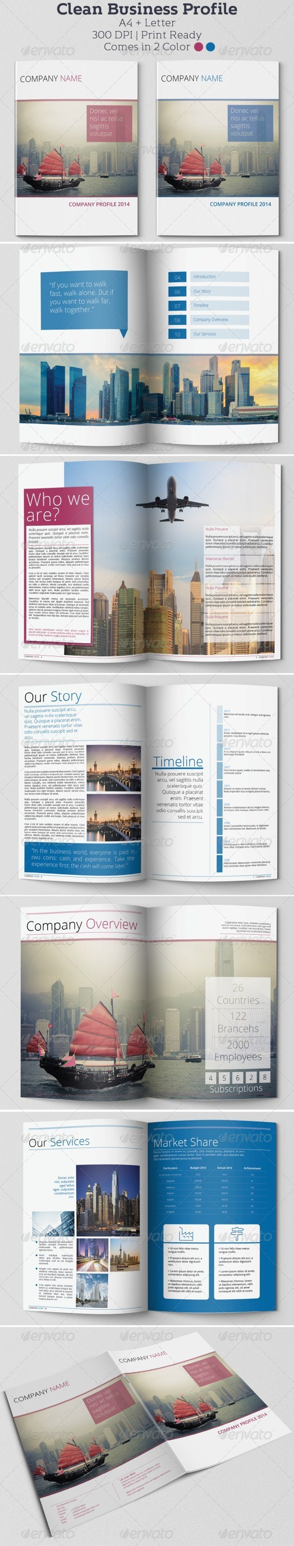 Clean Business Profile - Informational Brochures