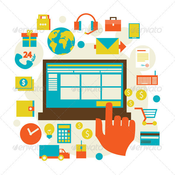 E-Commerce and Shopping Icons - Web Technology