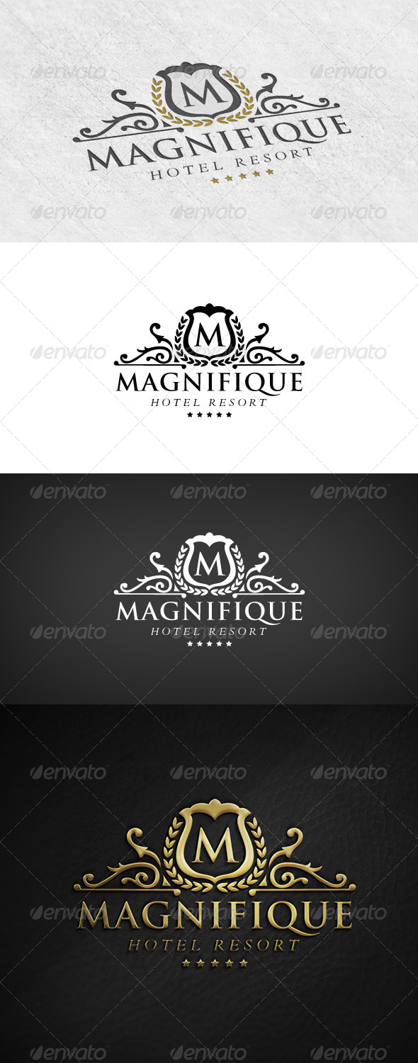 Elegant Logo - Hotel Resort - Crests Logo Templates