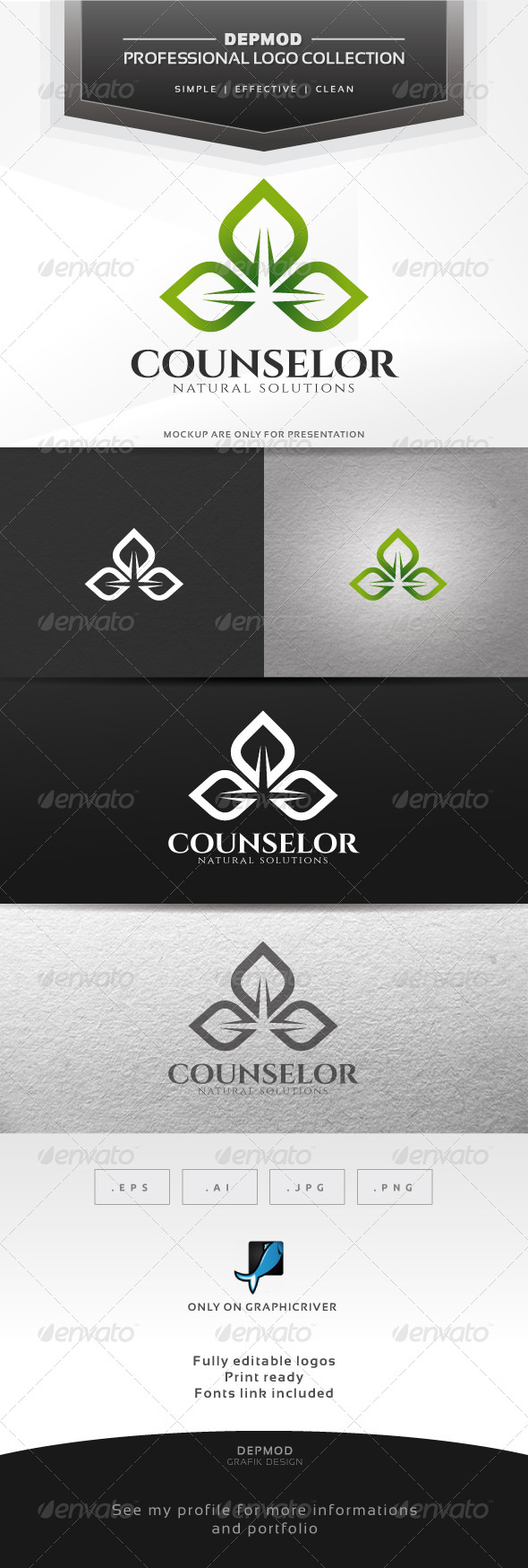 Counselor Logo - Nature Logo Templates