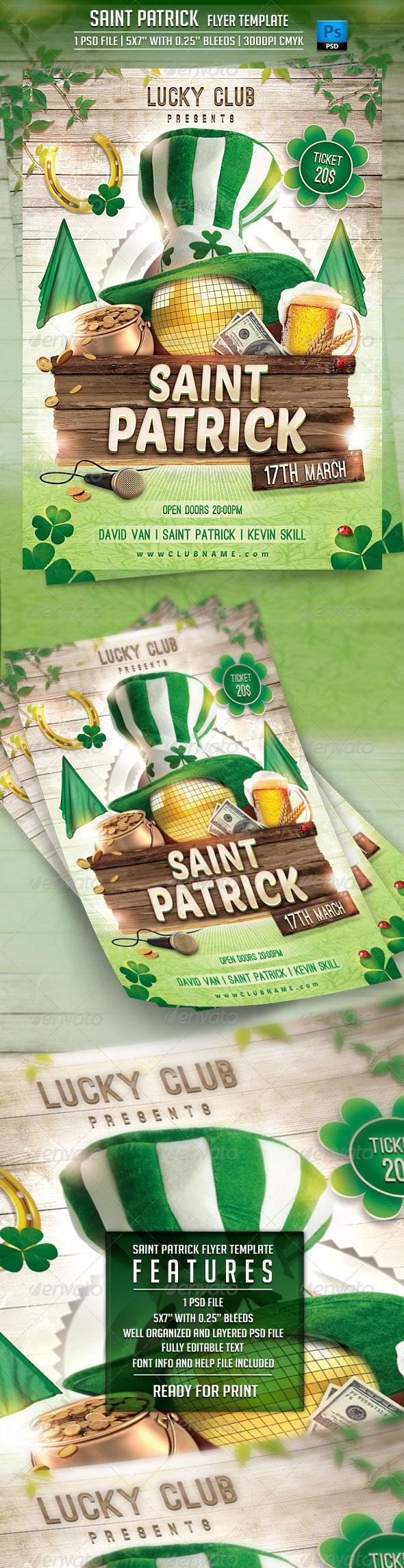 Saint Patrick Flyer Template - Events Flyers
