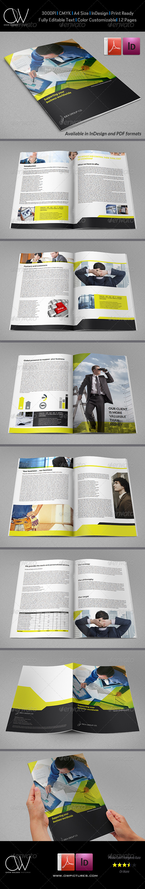 Corporate Brochure Template Vol.23 - 12 Pages - Corporate Brochures