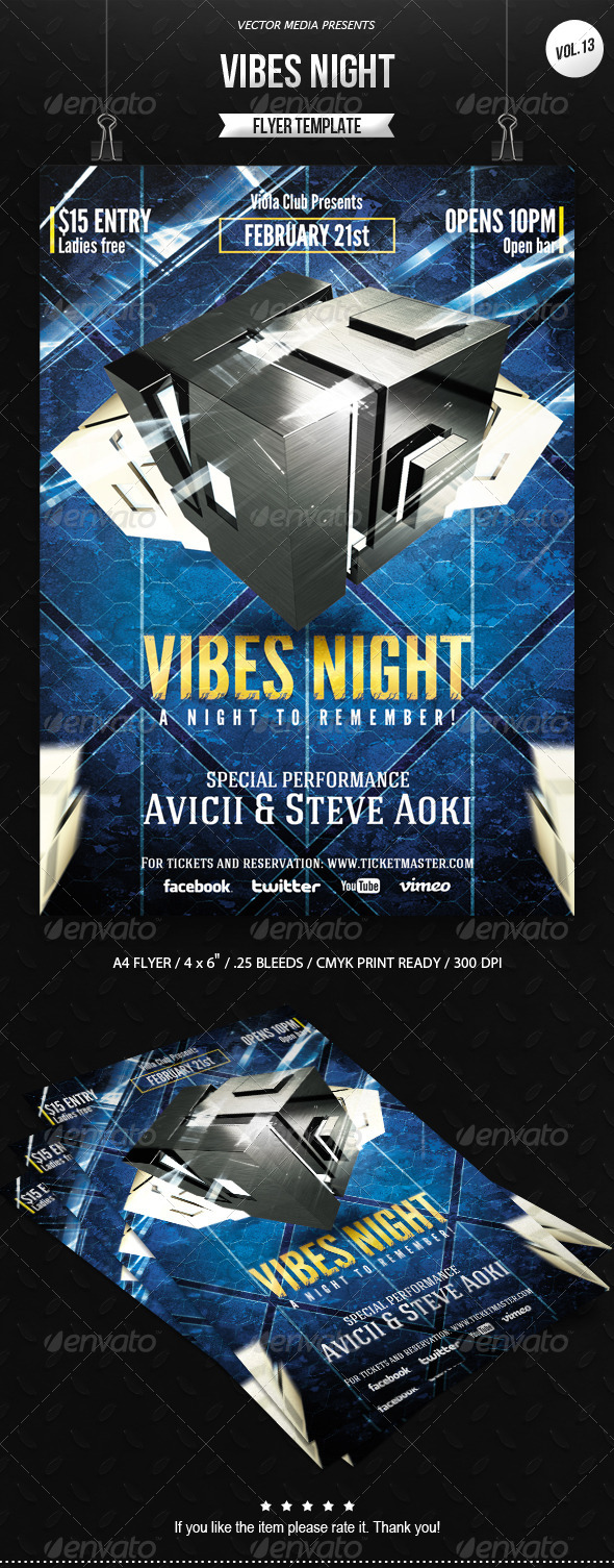 Vibes Night - Flyer [Vol.13] - Clubs & Parties Events
