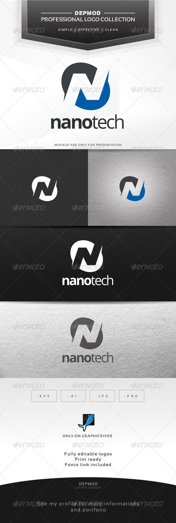 Nano Tech Logo - Letters Logo Templates