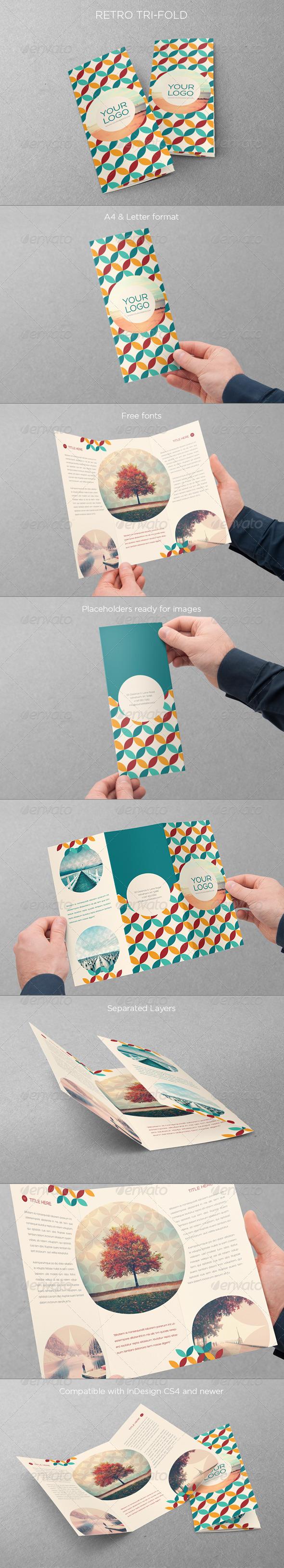 Retro Trifold - Brochures Print Templates