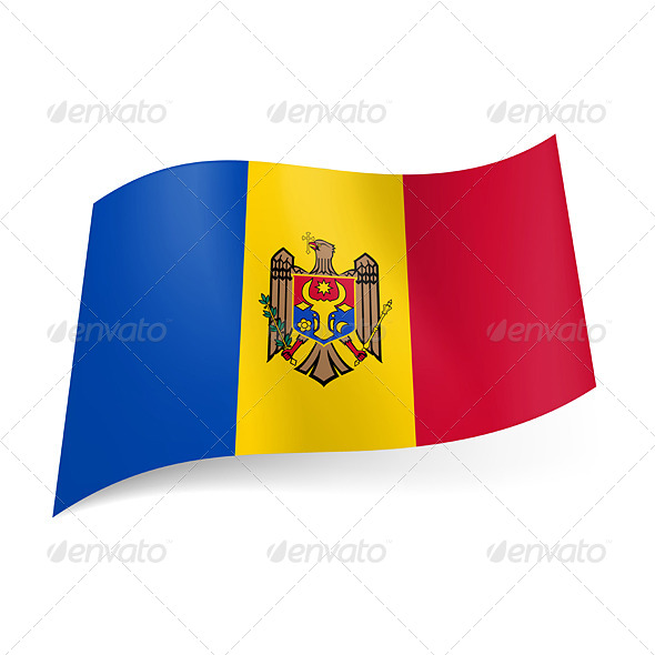 State Flag of Moldova - Miscellaneous Vectors