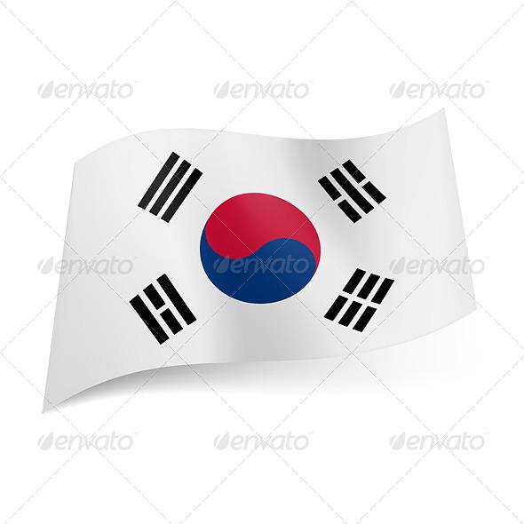 State Flag of South Korea - Miscellaneous Vectors