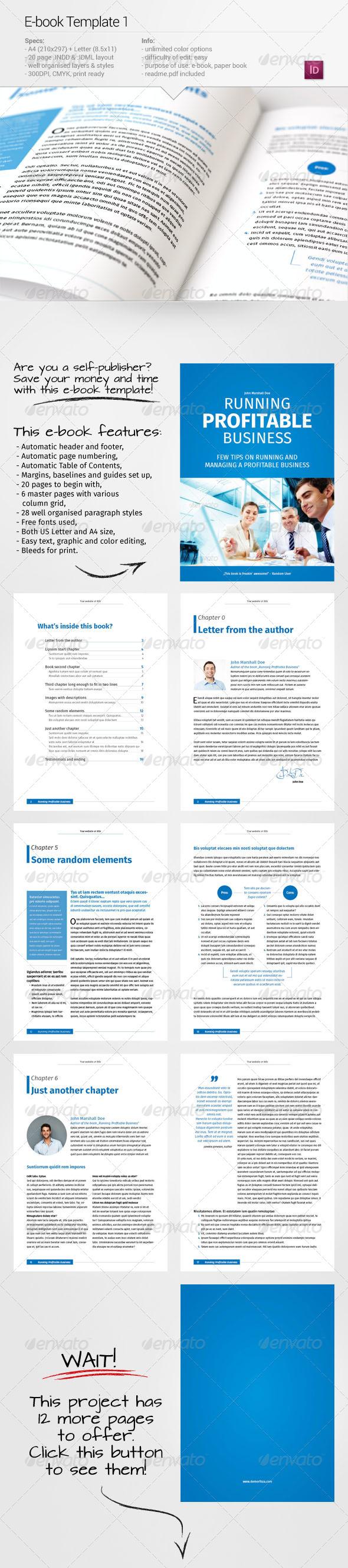 E-book Template 1 - Digital Books ePublishing