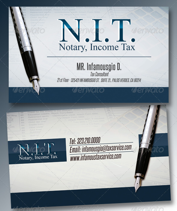 Income Tax 3 - Business Cards Print Templates
