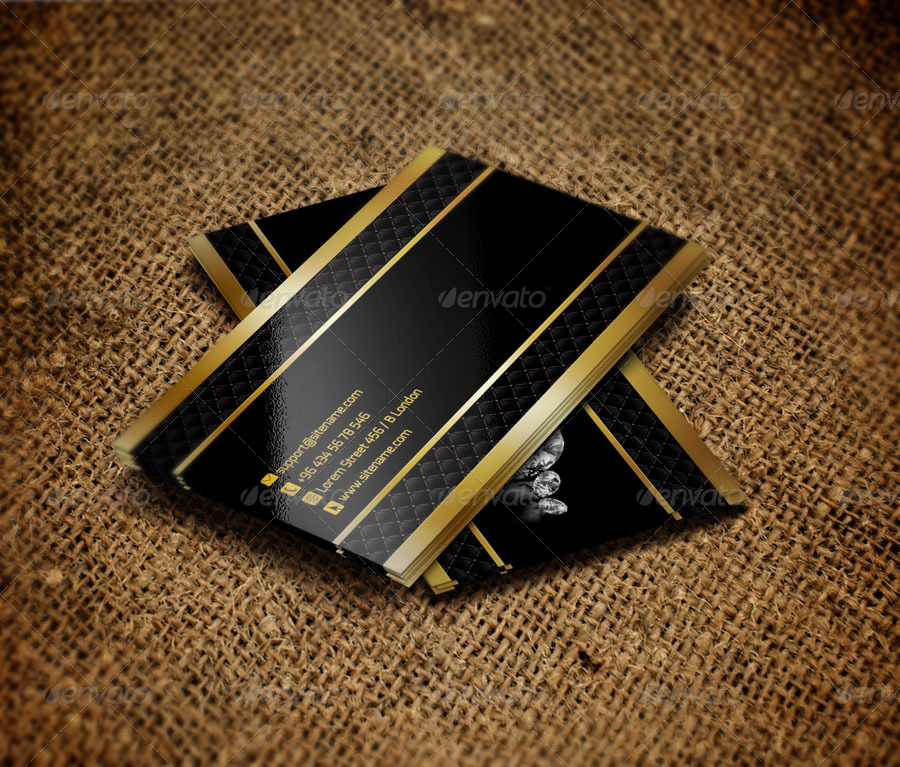 Elegant Jewelry Business Card QA Design by QaderAmiriFard ...