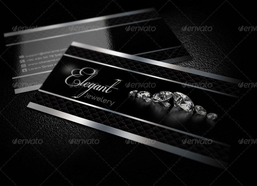 Elegant Jewelry Business Card QA Design by QaderAmiriFard | GraphicRiver
