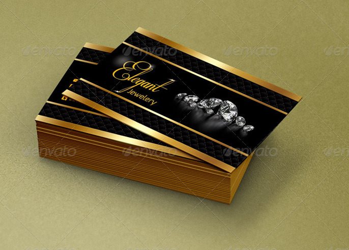 Elegant Jewelry Business Card Qa Design By Qaderamirifard