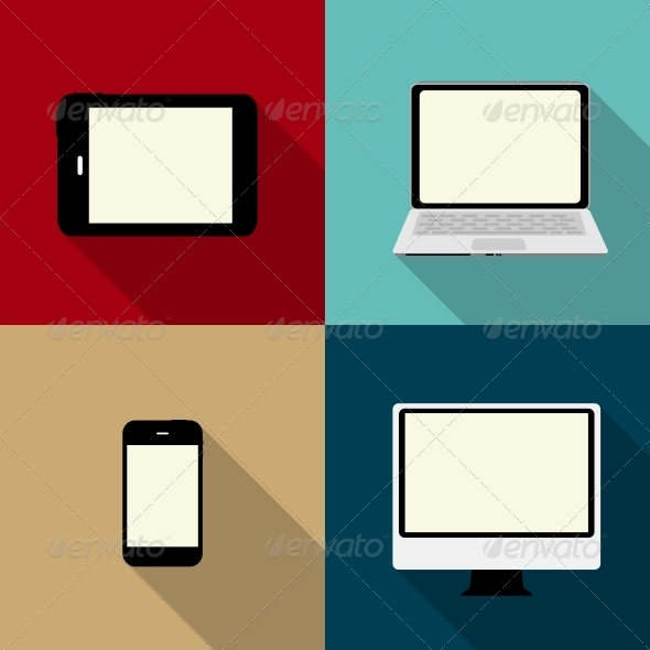 Computing Concept on Different Electronic Devices - Web Technology