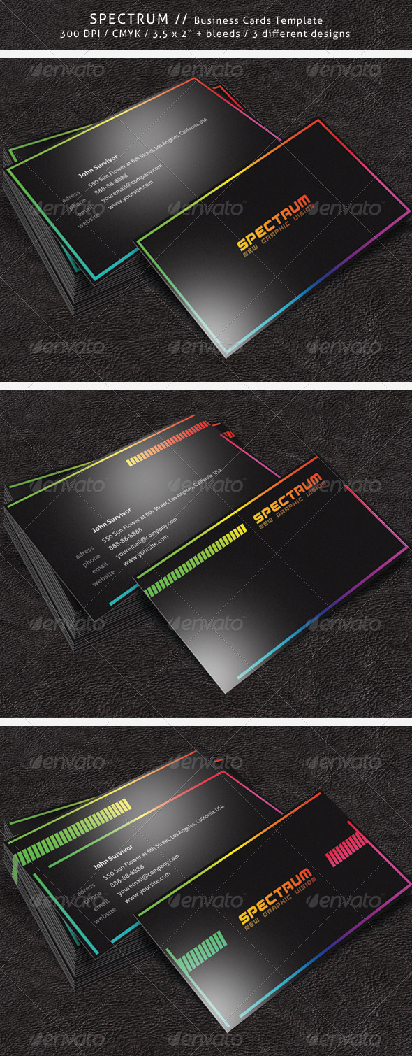 Spectrum Business Card - Corporate Business Cards
