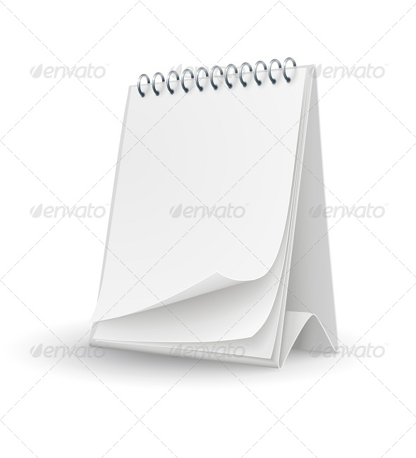 Calendar Template with Blank Pages - Man-made Objects Objects