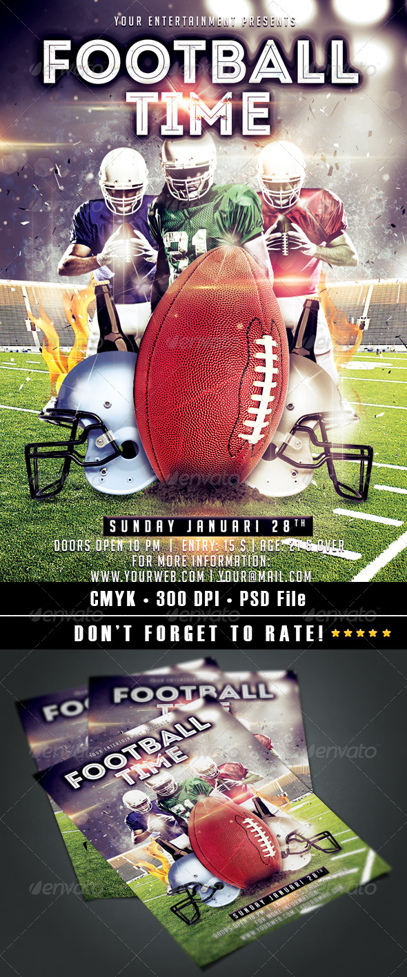 Football Time Flyer - Events Flyers