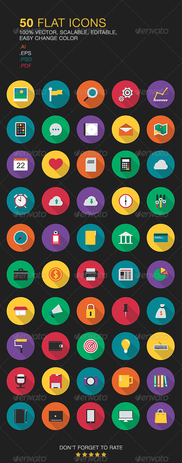 Flat Vector Icons - Web Icons