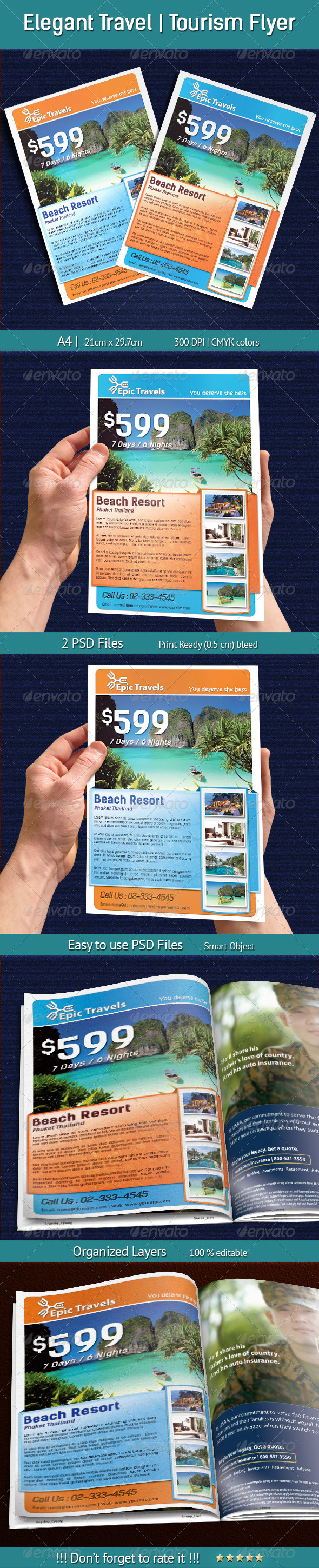 Elegant Travel | Tourism Flyer - Holiday Greeting Cards