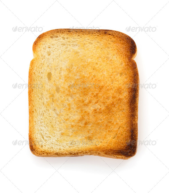 sliced bread on white - Stock Photo - Images