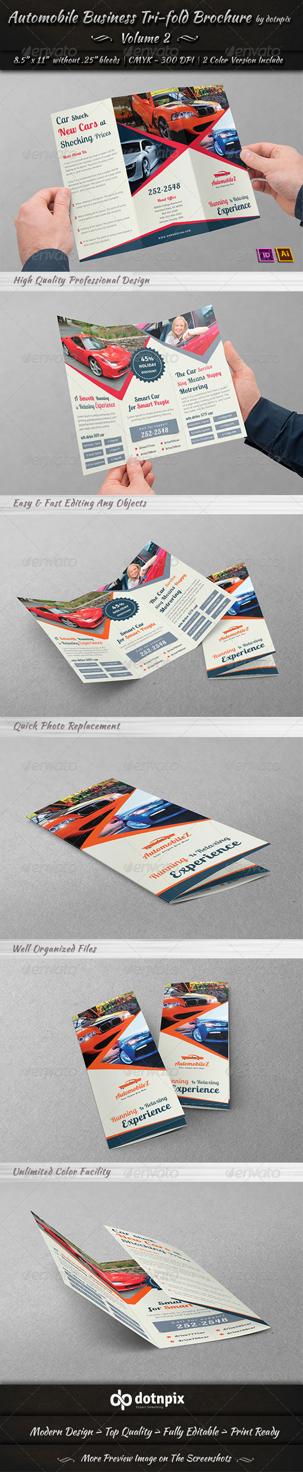 Automobile Business Tri-Fold Brochure | Volume 2 - Corporate Brochures