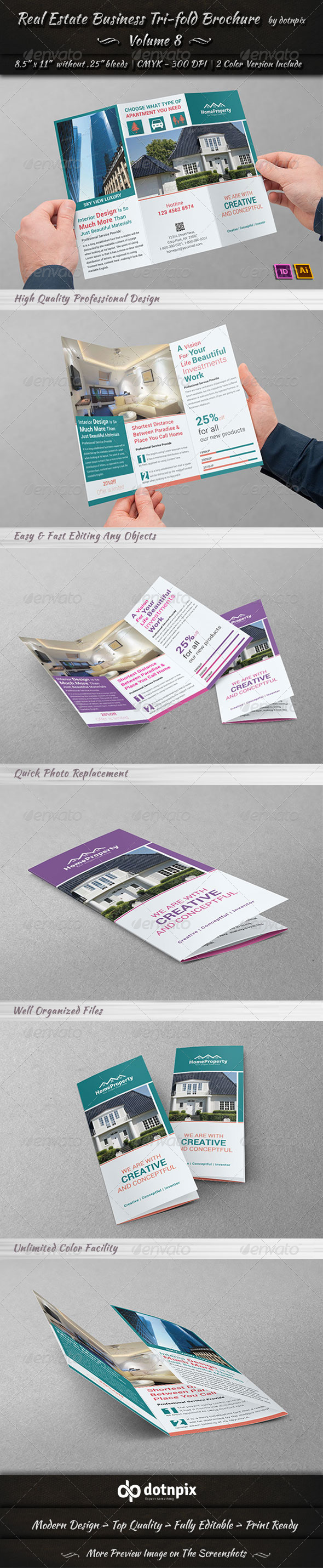 Real Estate Business TriFold Brochure | Volume 8 - Corporate Brochures