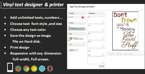Vinyl Text Designer & Printer  - CodeCanyon Item for Sale