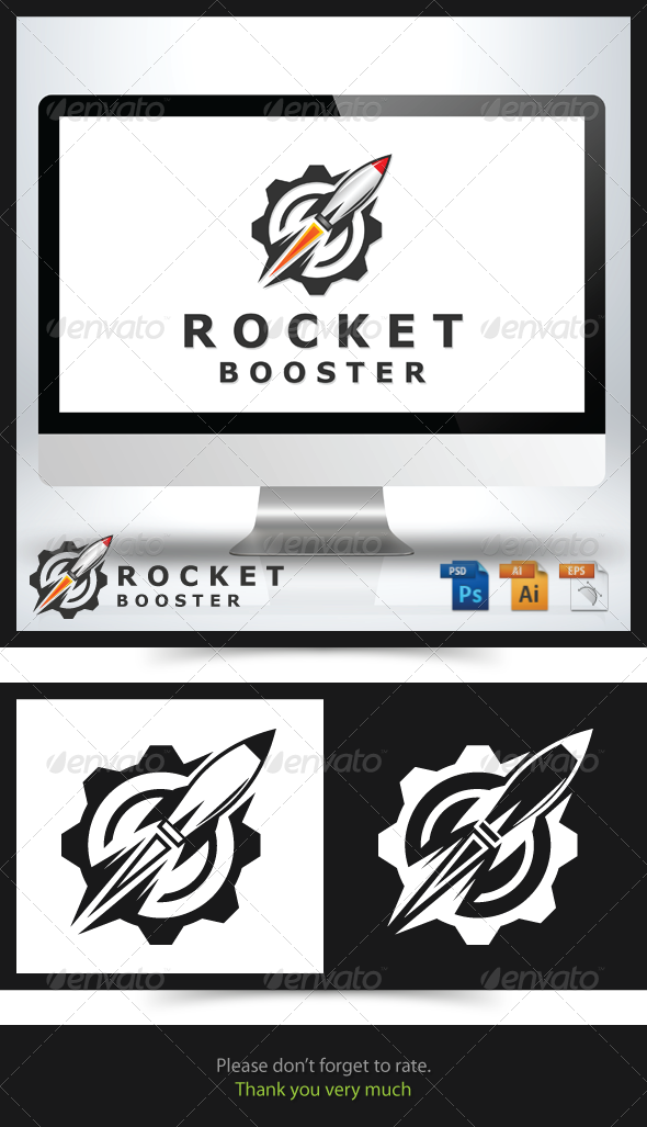 Rocket Booster Logo - Objects Logo Templates