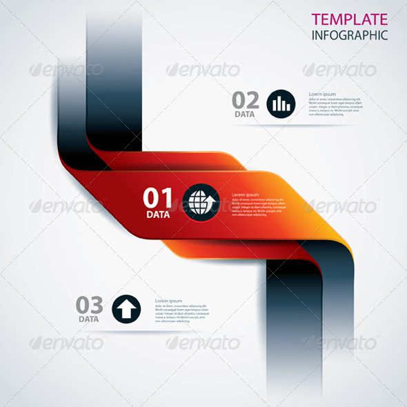 Business Step Data and Numbers Design Template  - Infographics