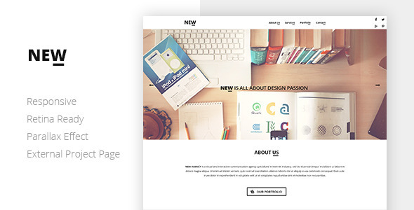 NEW Creative One Page Template - Creative Site Templates