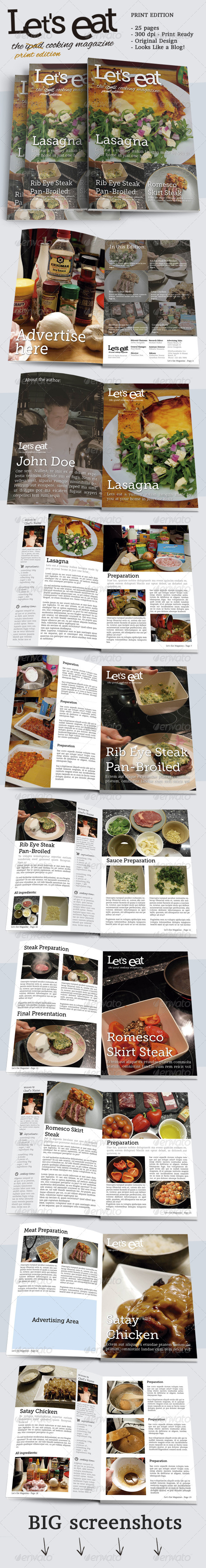 Cooking Magazine - Magazines Print Templates