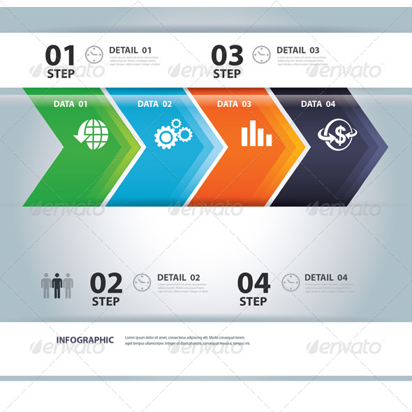 Business Step Paper and Numbers Design Template - Infographics
