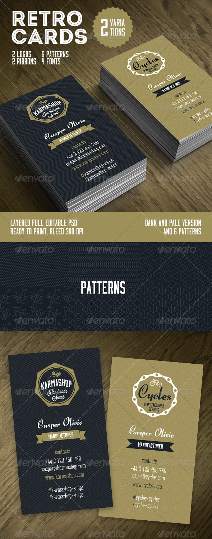 Retro Business Cards Template - Retro/Vintage Business Cards