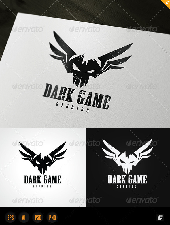 Dark Game Logo - Vector Abstract
