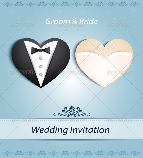 Wedding Card in The Form of Heart  - Weddings Seasons/Holidays