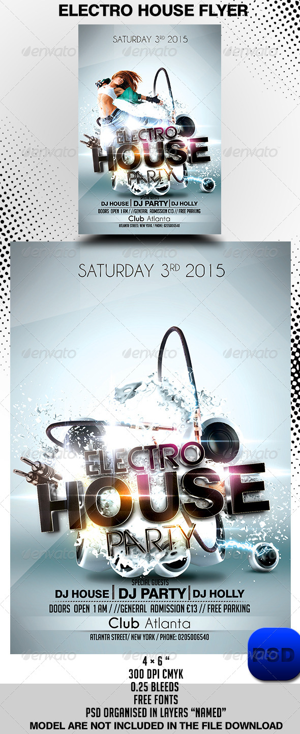 Electro House Flyer Template - Events Flyers