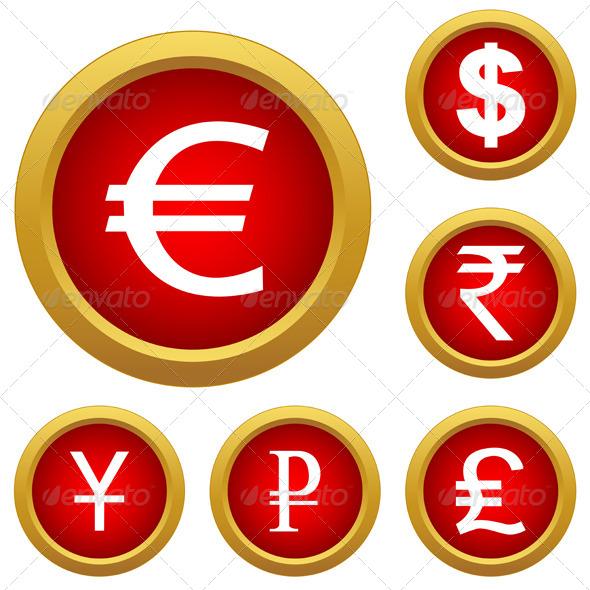 Money Set Buttons - Business Conceptual