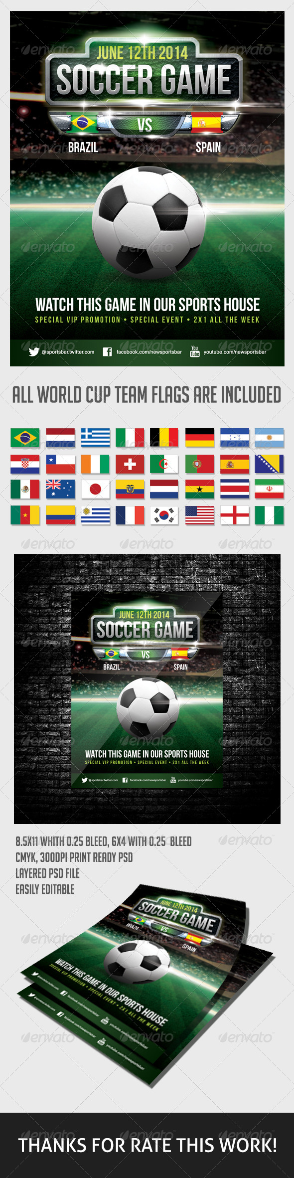 Soccer Game Poster - Sports Events