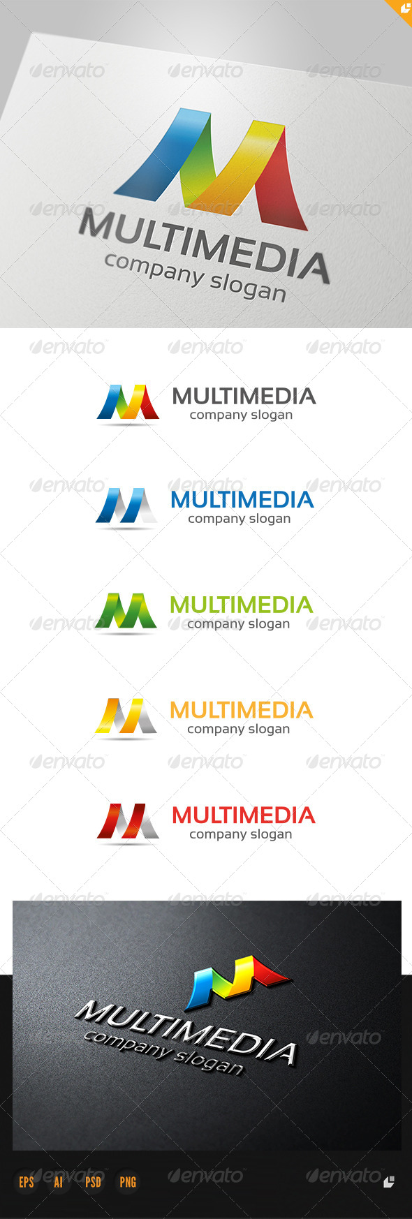 Multimedia Logo - 3d Abstract