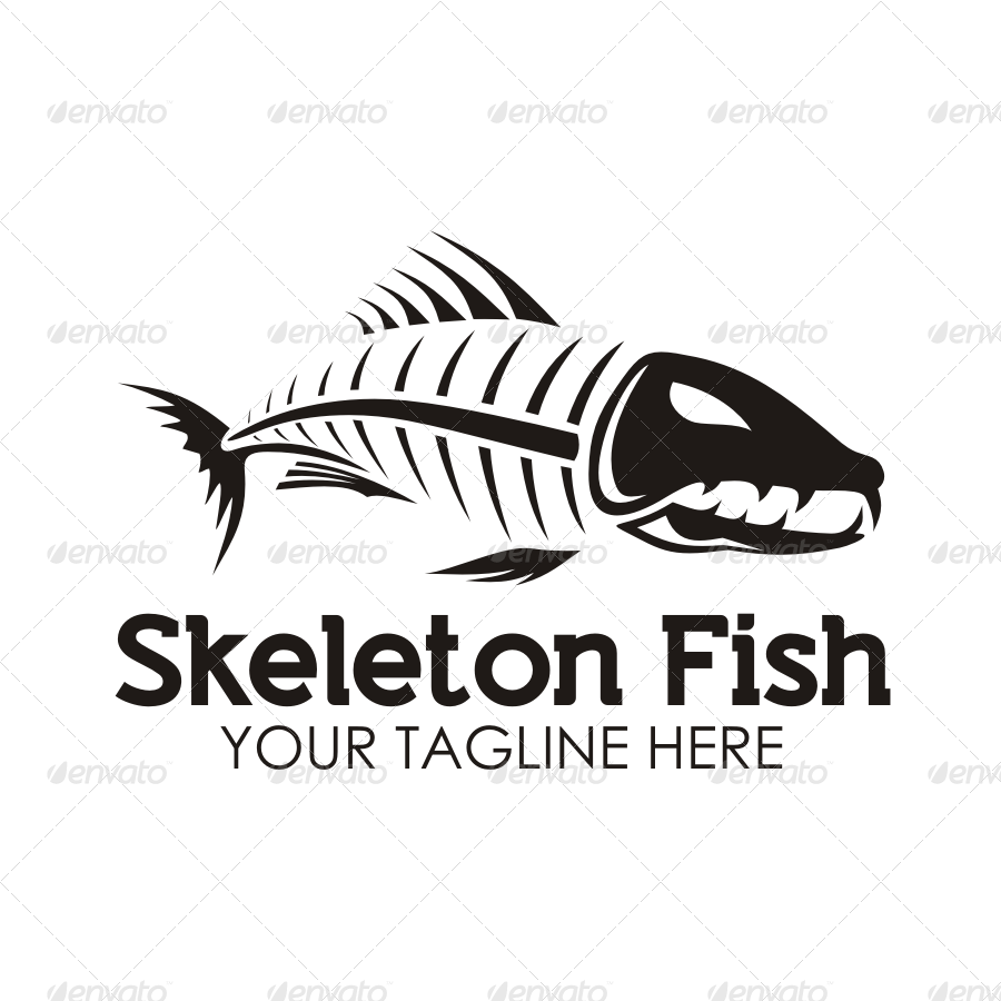 Skeleton Fish Logo By Seviart Graphicriver