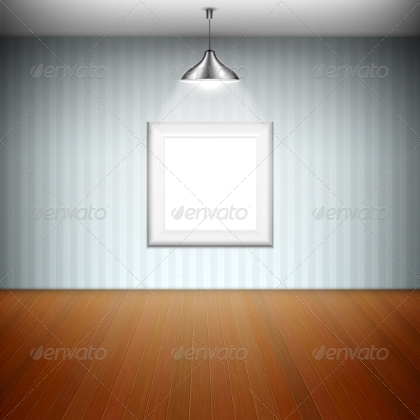 Empty Picture Frame Illuminated by Spotlight - Retail Commercial / Shopping