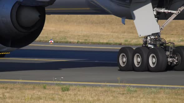 Airplane Towing To Service, Close-up